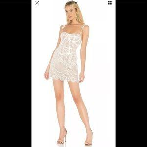 For love & lemons Tati white bustier dress xs